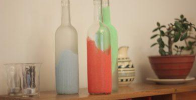 Adornos con botellas de vidrio guia de elaboracion
