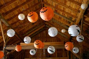 Lámpara casera de calabaza para Halloween