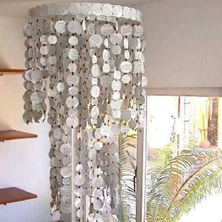 Lampara casera de papel reciclado guia de elaboracion