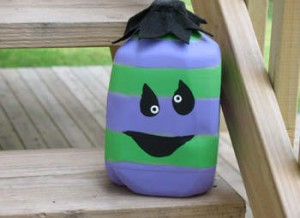 Lampara casera para Halloween con forma de monstruo