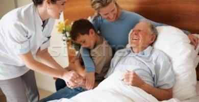 Cuidados del paciente en casa manual para familias